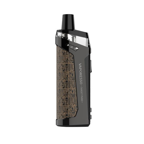 UK store Vaporesso TARGET PM80 Sub-ohm Pod Mod Kit 2000mAh (Care Version with 4 Coils) Color: Brown | Capacity: 2ml TPD Care Edition
