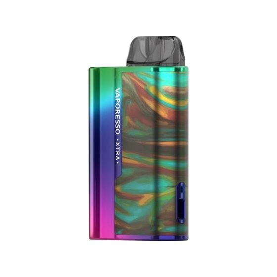 authentic Vaporesso XTRA Pod Kit 900mAh Color: Rainbow Resin | Type: TPD Edition