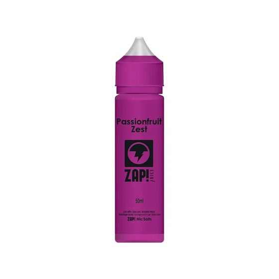 ZAP 50ml Shortfill by Zap Juice Flavor: Passionfruit Zest | Strength: 0mg/ml UK supplier