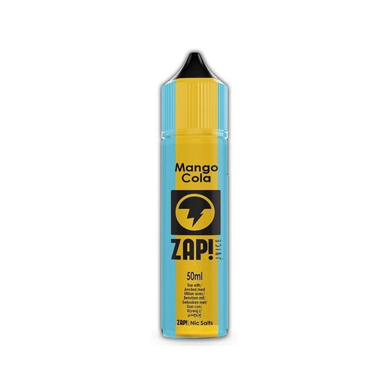 UK shop ZAP 50ml Shortfill by Zap Juice Flavor: Mango Cola | Strength: 0mg/ml