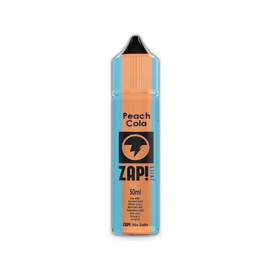 for wholesale ZAP 50ml Shortfill by Zap Juice Flavor: Peach Cola | Strength: 0mg/ml