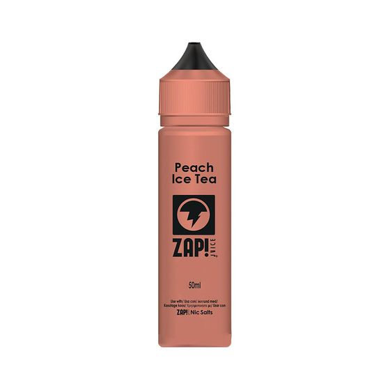 UK supplier Zap 50ml Shortfill by Zap Juice Flavor: Peach Ice Tea | Strength: 0mg/ml