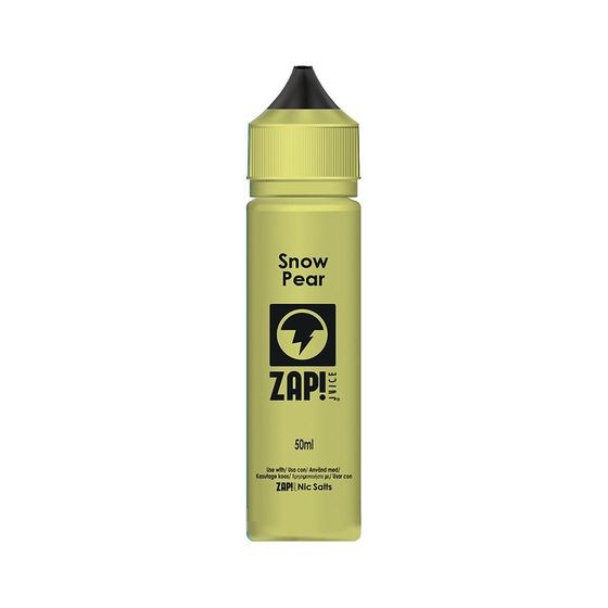 wholesale price Zap 50ml Shortfill by Zap Juice Flavor: Snow Pear | Strength: 0mg/ml