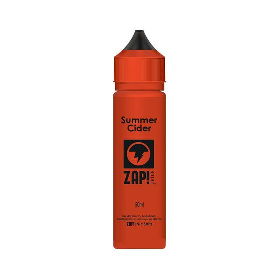 Zap 50ml Shortfill by Zap Juice Flavor: Summer Cider | Strength: 0mg/ml for wholesale