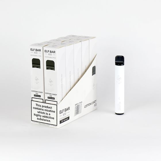 [OEM] Elf Bar Disposable Pod Device 600 Puffs Flavor: Cotton Candy Ice | Strength: EN 2% nicotine UK store