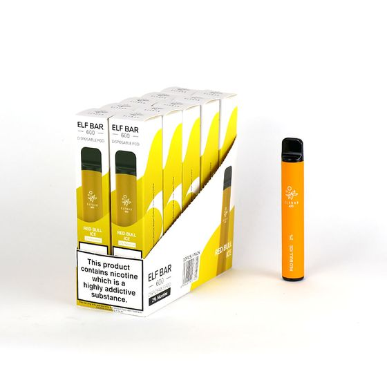 [OEM] Elf Bar Disposable Pod Device 600 Puffs Flavor: Red Bull Ice | Strength: EN 2% nicotine for wholesale