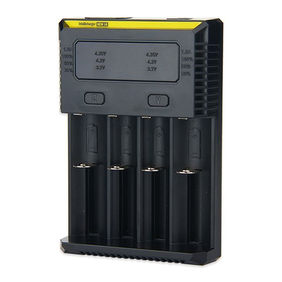 cheap Nitecore Intellicharger New I4 Li-ion/NiMH Battery 4-slot Charger with UK Plug Plug Type: EURO Plug