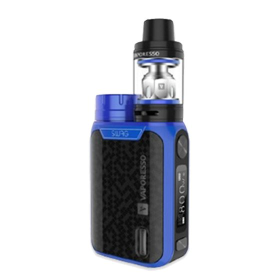 Vaporesso Swag 80W TC Kit with NRG SE Tank Color: Blue | Type: 2ml TPD Version for wholesale