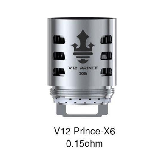shop SMOK TFV12 PRINCE Replacement Coil 3pcs Resistance: V12 Prince-X6 0.15ohm | Type: TPD Version