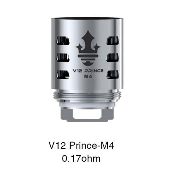 shop online SMOK TFV12 PRINCE Replacement Coil 3pcs Resistance: V12 Prince-M4 0.17ohm | Type: TPD Version