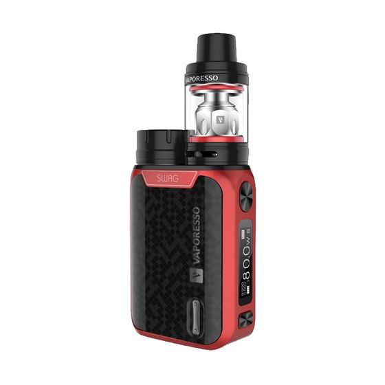 original Vaporesso Swag 80W TC Kit with NRG SE Tank Color: Red | Type: 2ml TPD Version