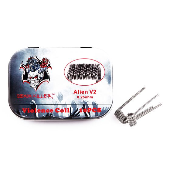 shop online Demon Killer Kanthal Prebuilt Voilence Coil 10pcs Type: Alien V2 0.25ohm