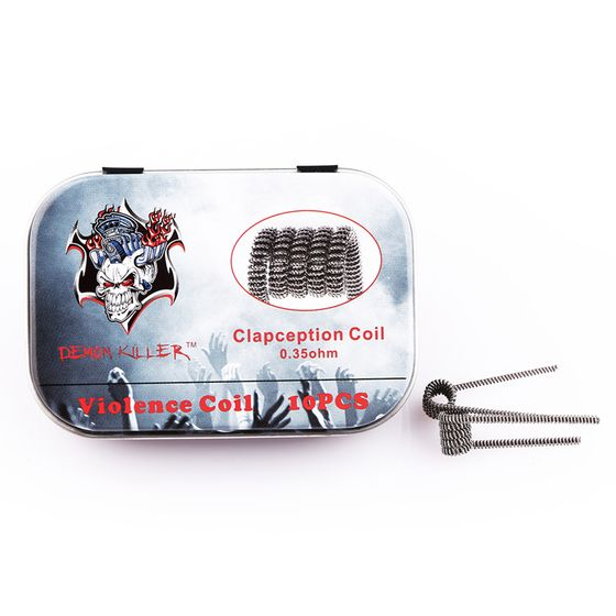 authentic Demon Killer Kanthal Prebuilt Voilence Coil 10pcs Type: Clapception 0.35ohm