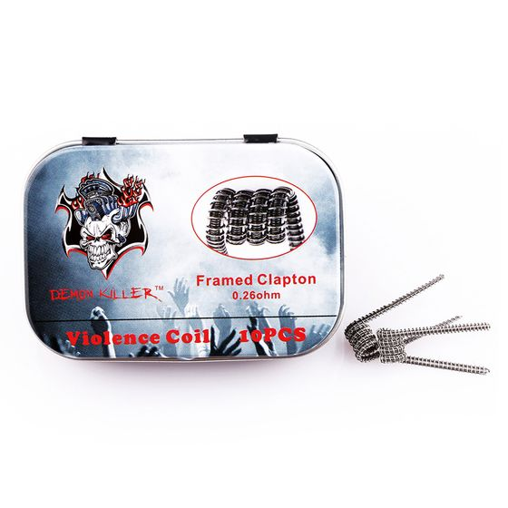 shop online Demon Killer Kanthal Prebuilt Voilence Coil 10pcs Type: Framed Clapton 0.26ohm