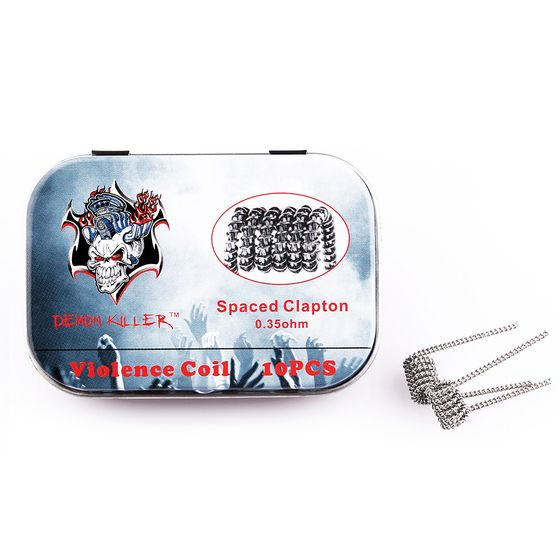 authentic Demon Killer Kanthal Prebuilt Voilence Coil 10pcs Type: Spaced Clapton 0.35ohm