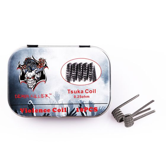 buy Demon Killer Kanthal Prebuilt Voilence Coil 10pcs Type: Tsuka 0.25ohm